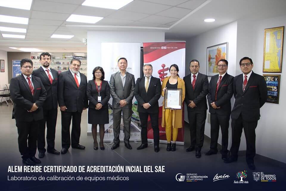 Equipos de medición calibrados y certificados por personal acreditado por la SAE